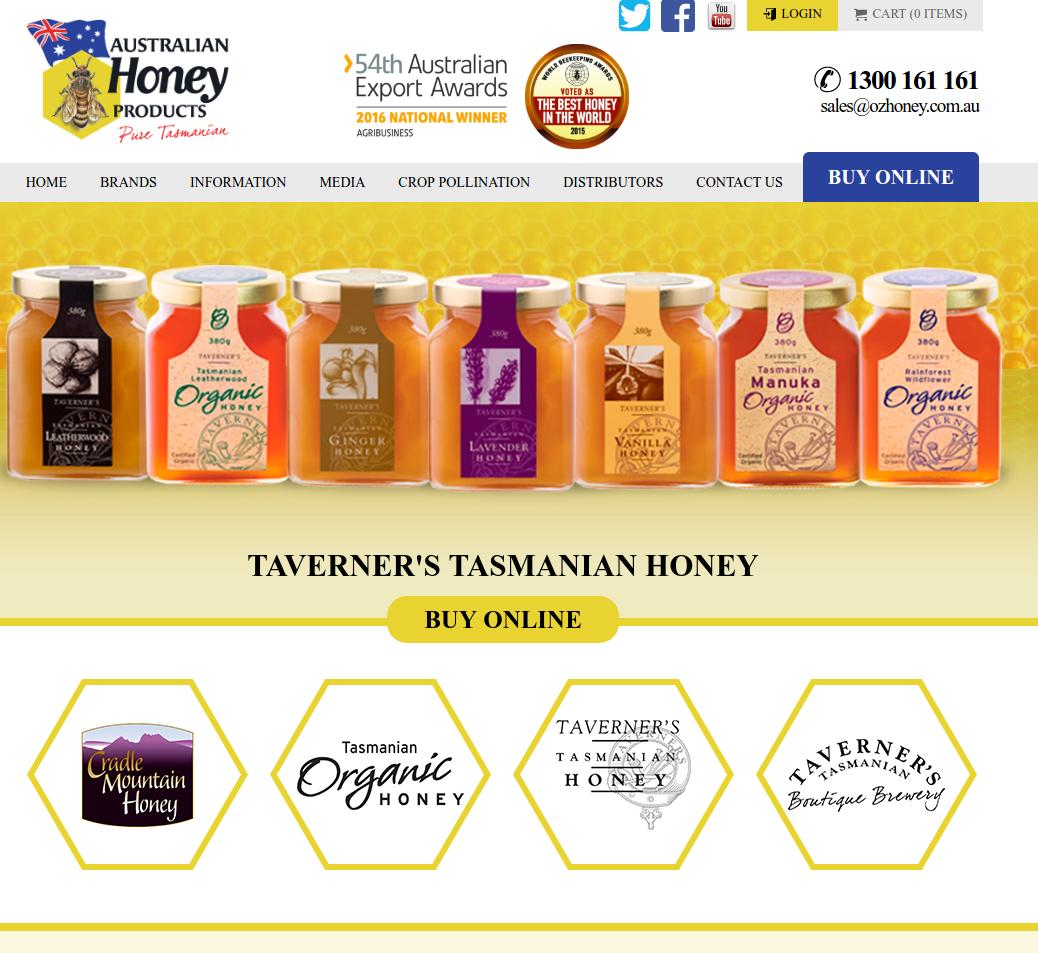 Australian Honey Products website